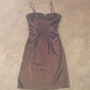 Cache Chocolate brown cocktail dress size 10